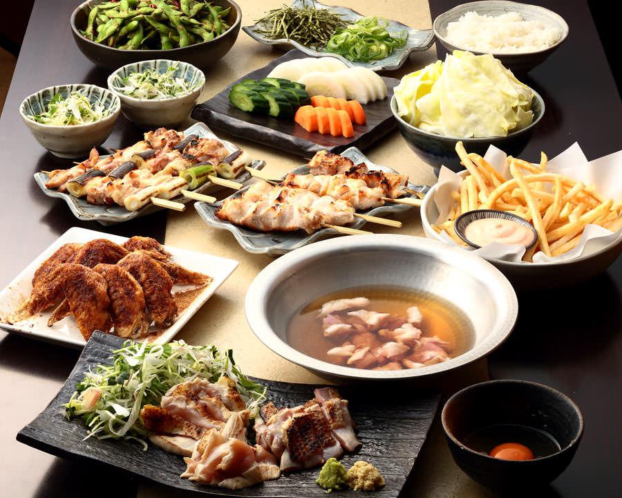 とりいちず酒場 田町慶応仲通り店の鶏料理を満喫できる〈食べ放題×飲み放題コース〉